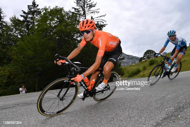 Fausto Masnada of Italy and CCC Team / during the 72nd Criterium du Dauphine 2020, Stage 5 a 153,5km stage from Megeve to Megeve 1458m / @dauphine /...