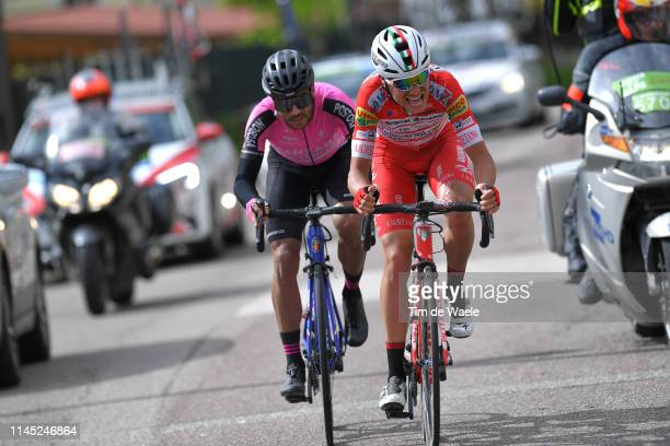 Fausto Masnada of Italy and Team Androni Giocattoli - Sidermec / Carlos Julian Quintero Norena of Colombia and Manzana Postobon Team / during the...