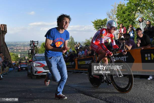 Fausto Masnada of Italy and Team Androni Giocattoli Sidermec / Fans / Public / during the 102nd Giro d'Italia 2019 Stage 1 a 8km Individual Time...