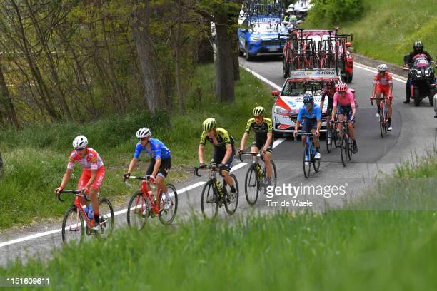 Fausto Masnada of Italy and Team Androni Giocattoli Sidermec / Giulio Ciccone of Italy and Team Trek Segafredo Blue Mountain Jersey / Christopher...