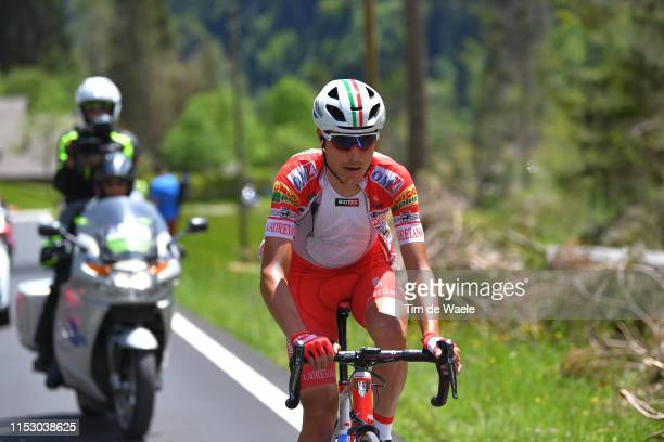 Fausto Masnada of Italy and Team Androni Giocattoli - Sidermec / Passo Manghen / during the 102nd Giro d'Italia 2019, Stage 20 a 194km stage from...