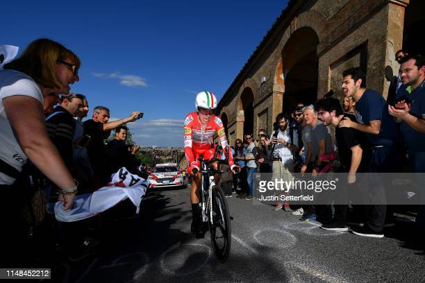 Fausto Masnada of Italy and Team Androni Giocattoli Sidermec / Public / Fans / during the 102nd Giro d'Italia 2019 Stage 1 a 8km Individual Time...