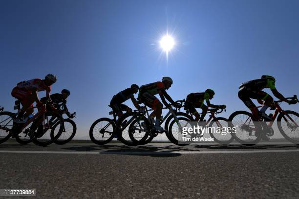 Fausto Masnada of Italy and Team Androni Giocattoli-Sidermec / Guy Sagiv of Israel and Team Israel Cycling Academy / Mirco Maestri of Italy and Team...