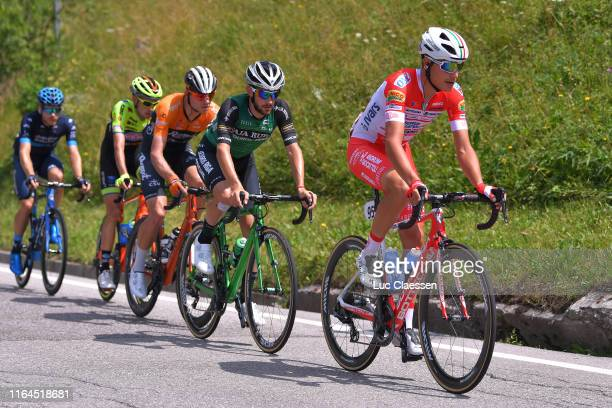 Fausto Masnada of Italy and Team Androni Giocattoli-Sidermec / Xavier Cañellas Sanchez of Spain and Team Caja Rural-Seguros RGA / Sjoerd van Ginneken...