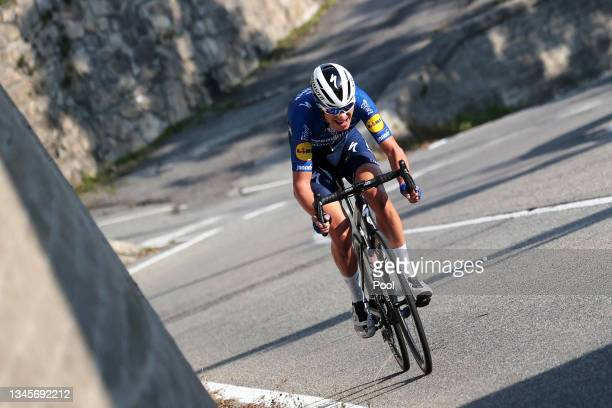 Fausto Masnada of Italy and Team Deceuninck - Quick-Step attacks during the 115th Il Lombardia 2021 a 239km race from Como to Bergamo / #ilombardia /...