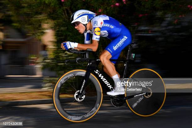 Fausto Masnada of Italy and Team Deceuninck - Quick-Step / during the 55th Tirreno-Adriatico 2020 - Stage 8 a 10,1km Individual Time Trial in San...