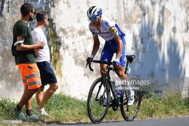 Fausto Masnada of Italy and Team Deceuninck - Quick-Step / Fans / Public / during the 55th Tirreno-Adriatico 2020, Stage 6 a 171km stage from...
