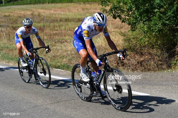Fausto Masnada of Italy and Team Deceuninck - Quick-Step / James Knox of The United Kingdom and Team Deceuninck - Quick-Step / during the 55th...