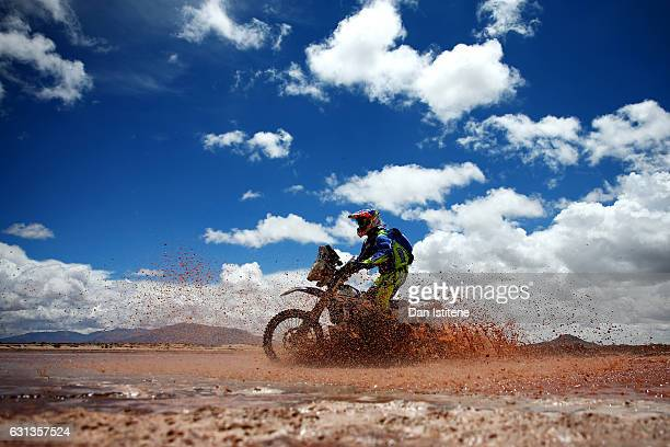 Fausto Mota of Portugal and Yamaha CRN Competition rides a WR450F Yamaha bike in the Classe 21 Super Production during stage seven of the 2017 Dakar...