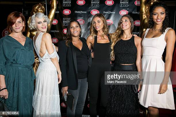 Fauve Hautot Aria Crescencdo Audrey Chauveau Ariane Brodier a guest and Flora Coquerel attend the 'Chantal Thomass Dessous Dessus' show Premiere at...