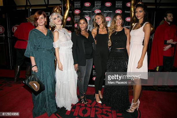 Fauve Hautot Aria Crescendo Audrey Chauveau Ariane Brodier a guest and Flora Coquerel attend the 'Chantal Thomass Dessous Dessus' show Premiere at Le...