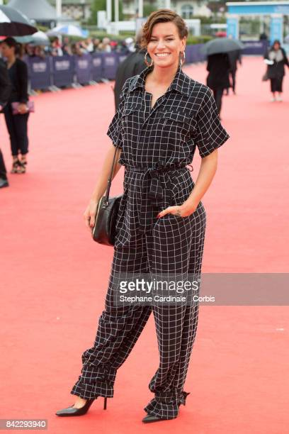 Fauve Hautot attends the Tribute To 'Jeff Goldblum' And 'Kidnap' Premiere during the 43rd Deauville American Film Festival on September 3 2017 in...