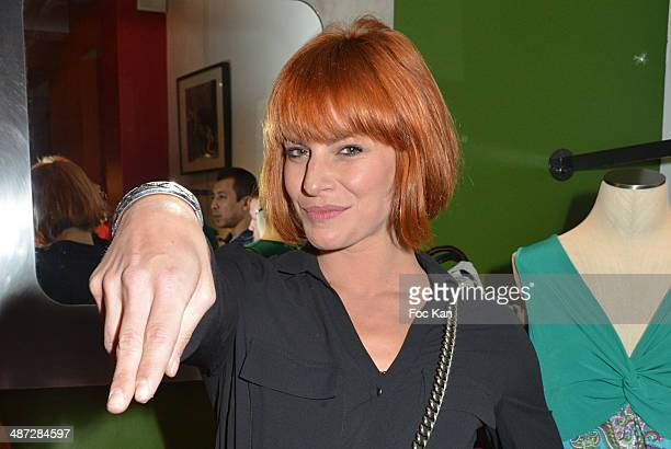 Fauve Hautot from Danse avec les Stars attends 'Charriol' Ephemeral Boutique opening hosted by Nathalie Garcon at Galerie Vivienne on April 28 2014...