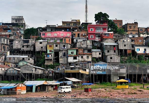 favela amazonica - slum stock pictures, royalty-free photos & images