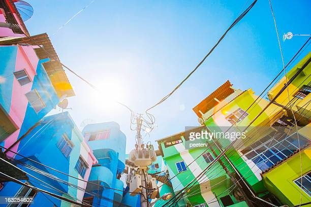 favela buildings. - favela stock pictures, royalty-free photos & images
