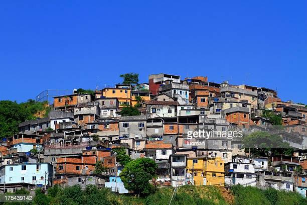 favela in rio de janeiro - favela stock pictures, royalty-free photos & images