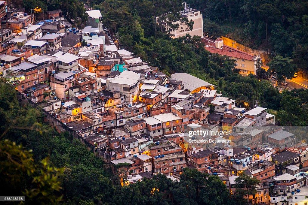 Favela in Rio. Tijuca. : Stock Photo