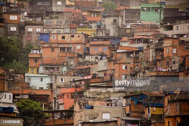 favela in sao paulo - favela imagens e fotografias de stock