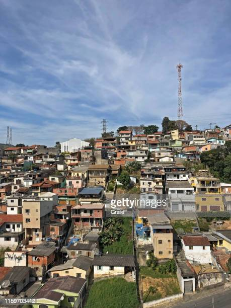 favela in são paulo brazil south america - ghetto trash stock pictures, royalty-free photos & images