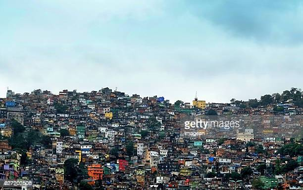favela rocinha - favela stock pictures, royalty-free photos & images