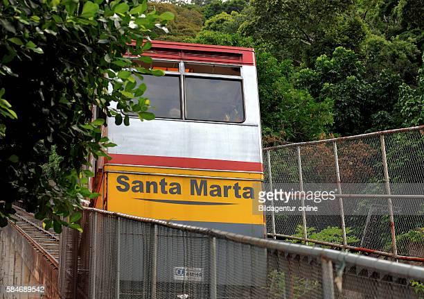 Favela Santa Marta Rio de Janeiro Brazil funicular