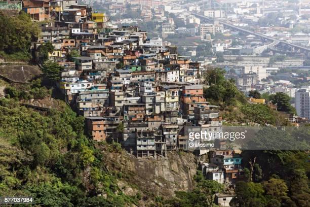 Favela Slum in Rio de Janeiro Brazil