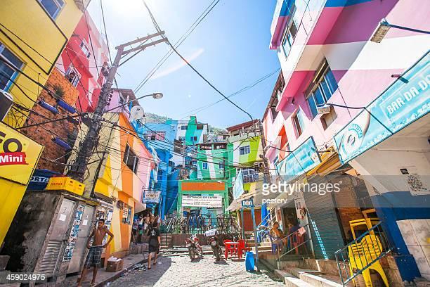 Favela streets.