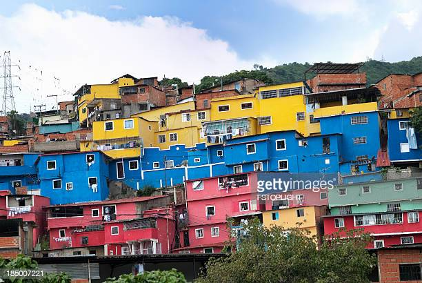 favela suburb of caracas city - venezuela stock pictures, royalty-free photos & images