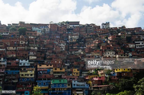 favela suburb of caracas city - カラカス ストックフォトと画像