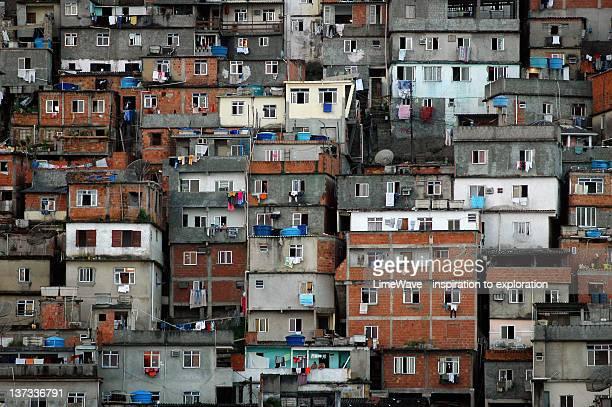 favelas in central rio de janeiro - slum stock pictures, royalty-free photos & images