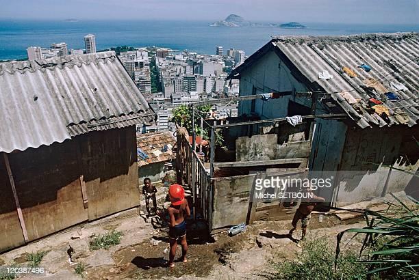 Favella Copacabana Rio De Janeiro Brazil