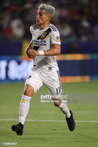 Favio Alvarez of La Galaxy during the MLS match between Los Angeles Galaxy and Toronto FC at Dignity Health Sports Park on July 4 2019 in Carson...