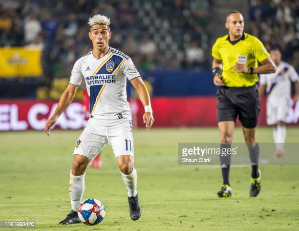 Favio Alvarez of Los Angeles Galaxy during the Los Angeles Galaxy's MLS match against FC Dallas at the Dignity Health Sports Park on August 14 2019...