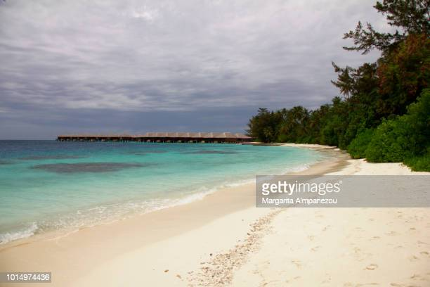 Favorite Beach: White sandy beach with turquoise water in Maldives