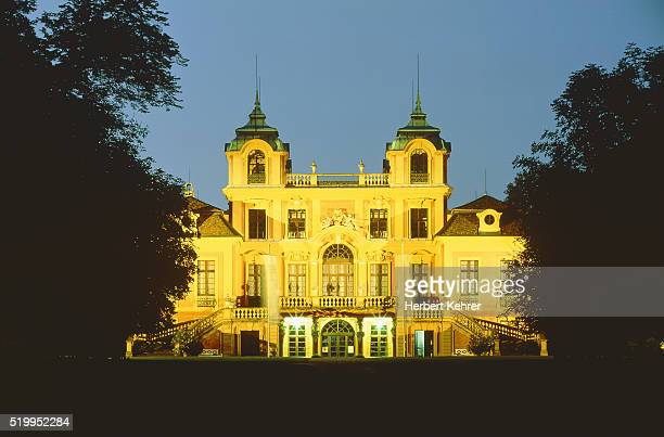 Favorite castle at Ludwigsburg in the evening (Baden-W?rttemberg, Germany)