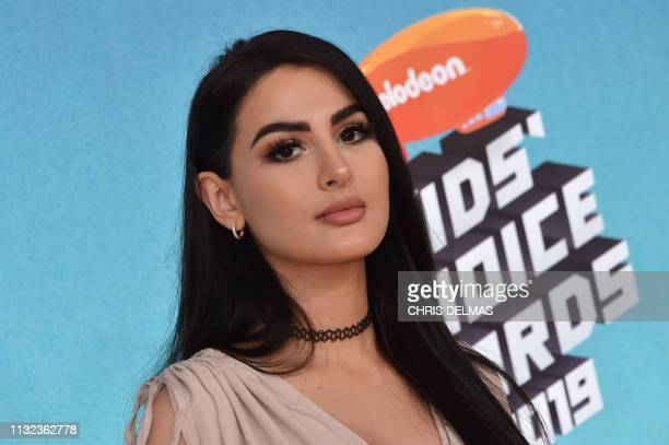 Favorite Gamer nominee British gamer Lia Wolf aka SSSniperWolf arrives for the 32nd Annual Nickelodeon Kids' Choice Awards at the USC Galen Center on...
