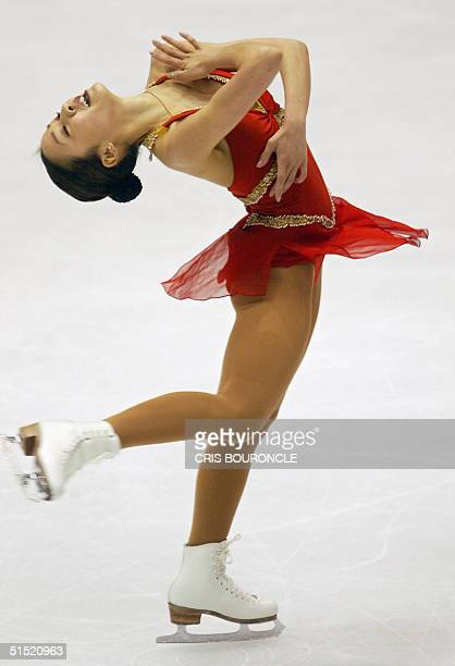 US favourit Michelle Kwan performs the women's free program of the figure skating event at the Olympic Ice Center 21 February 2002 during the XIXth...