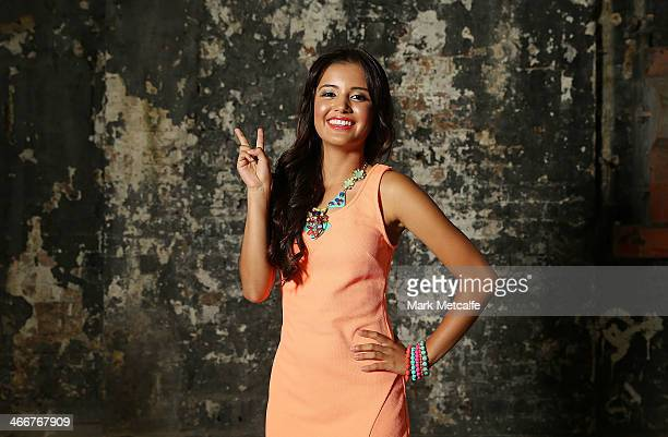 Favourite Female Personality nominee Naomi Sequeira poses prior to a media call to announce nominees and voting open of the 12th Annual ASTRA Awards...
