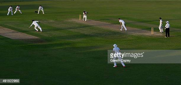 Fawad Alam of Pakistan A bats during day two of the tour match between Pakistan A and England at Sharjah Cricket Stadium on October 6 2015 in Sharjah...