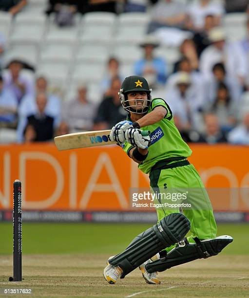 Fawad Alam of Pakistan batting during the NatWest Series One Day International between England and Pakistan Lord's London 20th September 2010...