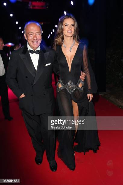 Fawaz Gruosi and Alessandra Ambrosio attend the De Grisogono party during the 71st annual Cannes Film Festival at on May 15 2018 in Cap d'Antibes...
