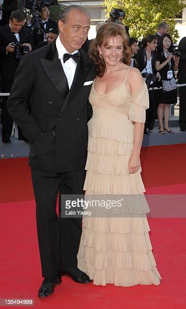 Fawaz Gruosi and Caroline Gruosi Scheufele during 2007 Cannes Film Festival Zodiac Premiere at Palais de Festival in Cannes France