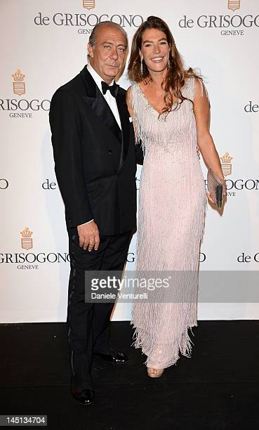 Fawaz Gruosi and Fiona Swarovski attend the de Grisogono Party during the 65th Annual Cannes Film Festival at Hotel Du Cap on May 23, 2012 in...