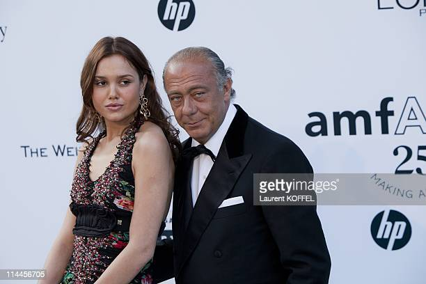 Fawaz Gruosi and guest attend amfAR's Cinema Against AIDS Gala during the 64th Annual Cannes Film Festival at Hotel Du Cap on May 19 2011 in Antibes...