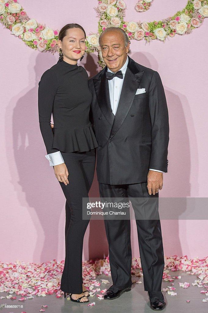 Fawaz Gruosi (R) and guest attend the Ballet National de Paris Opening Season Gala at Opera Garnier on September 24, 2015 in Paris, France.
