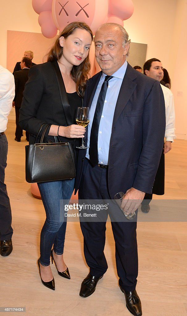 Fawaz Gruosi and guest attend the launch party for Phillips European Headquarters at 30 Berkeley Square on October 13, 2014 in London, England.