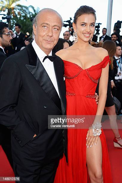 """Fawaz Gruosi and Irina Shayk attends the """"Killing Them Softly"""" Premiere during the 65th Annual Cannes Film Festival at Palais des Festivals on May..."""