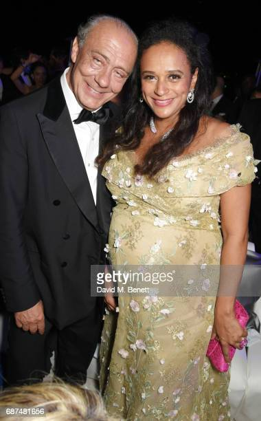 Fawaz Gruosi and Isabel dos Santos attend the de Grisogono Love On The Rocks party during the 70th annual Cannes Film Festival at Hotel du CapEdenRoc...