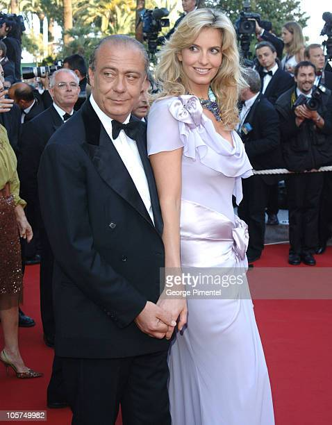Fawaz Gruosi and Penny Lancaster during 2005 Cannes Film Festival 'Peindre Ou Faire L'Amour' Premiere at Le Palais de Festival in Cannes France