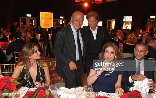 Fawaz Gruosi and Richard Caring attend The Art Of Wishes Gala at The Dorchester on October 2 2017 in London England